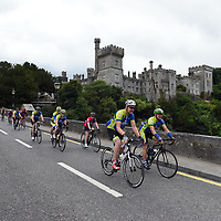 """9-8-2018: Cyclists in the """"Tour de Munster in aid of Down Syndrome Ireland supported by MACE, pictured passing by Lismore Castle in County Waterford on Thursday. <br /> Photo: Don MacMonagle<br /> <br /> pr photo photo from MACE"""