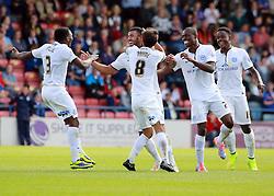 Peterborough United's Kyle Vassell celebrates scoring - Photo mandatory by-line: Joe Dent/JMP - Mobile: 07966 386802 09/08/2014 - SPORT - FOOTBALL - Rochdale - Spotland Stadium - Rochdale AFC v Peterborough United - Sky Bet League One - First game of the season