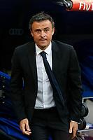 Barcelona´s coach Luis Enrique during La Liga match between Real Madrid and F.C. Barcelona in Santiago Bernabeu stadium in Madrid, Spain. October 25, 2014. (ALTERPHOTOS/Victor Blanco)