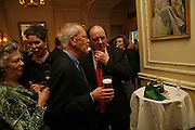 Elmore Leonard and James Naughtie. 2006 Cartier CWA Diamond Dagger Awards,  The Savoy, London. 10 May 2006.  Elmore Leonard receives Crime Writers' Association award recognising an outstanding contribution to the genre. ONE TIME USE ONLY - DO NOT ARCHIVE  © Copyright Photograph by Dafydd Jones 66 Stockwell Park Rd. London SW9 0DA Tel 020 7733 0108 www.dafjones.com