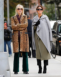 """Cate Blanchett and Sandra Bullock are seen on the set of """"Ocean's 8"""".<br /> (NYC)"""