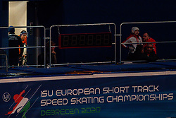 Suzanne Schulting (NED) preparing for the 1500 meter semifinals during ISU European Short Track Speed Skating Championships 2020 on January 25, 2020 in Fonix Hall, Debrecen, Hungary