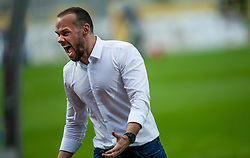 Dino Skender, head coach of Olimpija celebrates after scoring first goal during football match between NK Domzale and NK Olimpija in 29th Round of Prva liga Telekom Slovenije 2019/20, on June 21, 2020 in Sports park, Domzale, Slovenia. Photo by Vid Ponikvar / Sportida