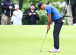 May 19, 2019 - Farmingdale, NY, U.S. - FARMINGDALE, NY - MAY 19: Brooks Koepka of the United States putts for a bogey on 14 during the Final Round of the 2019 PGA Championship, on the Black Course, Bethpage State Park, in Farmingdale, NY. (Photo by Joshua Sarner/Icon Sportswire) (Credit Image: © Joshua Sarner/Icon SMI via ZUMA Press)