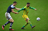 Football - 2019 / 2020 Sky Bet (EFL) Championship - Millwall vs. West Bromwich Albion<br /> <br /> West Bromwich Albion's Hal Robson-Kanu holds off the challenge from Millwall's Jake Cooper, at The Den.<br /> <br /> COLORSPORT/ASHLEY WESTERN