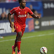 Daniel Sturridge, Liverpool, in action during the Manchester City Vs Liverpool FC Guinness International Champions Cup match at Yankee Stadium, The Bronx, New York, USA. 30th July 2014. Photo Tim Clayton