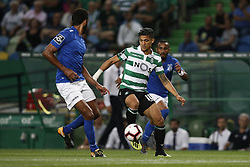 September 1, 2018 - Lisbon, Portugal - Fredy Montero of Sporting (R) vies for the ball with Bruno Nascimento of Feirense (L) during Primeira Liga 2018/19 match between Sporting CP vs CD Feirense, in Lisbon, on September 1, 2018. (Credit Image: © Carlos Palma/NurPhoto/ZUMA Press)