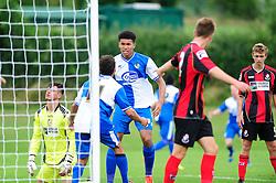 Bristol Rovers' U18s celebrate their goal - Photo mandatory by-line: Dougie Allward/JMP - Tel: Mobile: 07966 386802 17/08/2013 - SPORT - FOOTBALL - Bristol Rovers Training Ground - Friends Life Sports Ground - Bristol - Academy - Under 18s - Youth - Bristol Rovers U18s V Bournemouth U18s