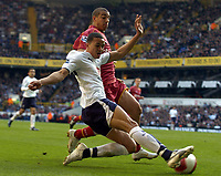 Photo: Olly Greenwood.<br />Tottenham Hotspur v Reading. The Barclays Premiership. 01/04/2007. Spurs Jermaine Jenas and Reading's James Harper