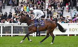 Lake Volta ridden by Jockey Richard Kingscote goes to post for the Jersey Stakes