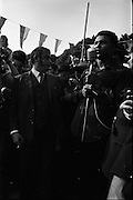 15/07/1972<br /> 07/15/1972<br /> 15 July 1972<br /> Muhammad Ali at Stewarts Hospital Fete, Palmerstown, Dublin. Ali giving his speech with other members of his entourage.