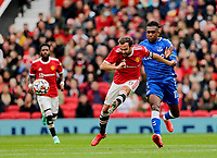 Football - 2021 / 2022 Pre-Season Friendly - Manchester United vs Everton - Old Trafford - Saturday 7th August 2021<br /> <br /> Juan Mata of Manchester United crosses into the area with Alex Iwobi of Everton in pursuit, at Old Trafford.<br /> <br /> COLORSPORT/ALAN MARTIN