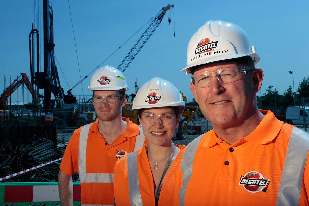 On location corporate portraiture for Bechtel Engineering at Reading railway station. UK