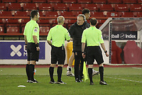 Middlesbrough manager Neil Warnock  speaks to ref Andy Woolmer as the game ends<br /> <br /> Photographer Mick Walker/CameraSport<br /> <br /> The EFL Sky Bet Championship - Nottingham Forest v Middlesbrough - Wednesday 20th January 2021 - The City Ground - Nottingham<br /> <br /> World Copyright © 2020 CameraSport. All rights reserved. 43 Linden Ave. Countesthorpe. Leicester. England. LE8 5PG - Tel: +44 (0) 116 277 4147 - admin@camerasport.com - www.camerasport.com