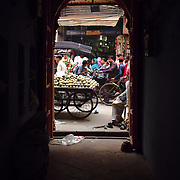 Fruit stand in the alleys od Old Delhi