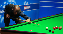 Rory McLeod on day five of the Betfred Snooker World Championships at the Crucible Theatre, Sheffield.