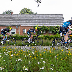 VELDHOVEN (NED) July 4 <br /> CYCLING <br /> The first race of the Schwalbe Topcompetition the Simac Omloop der Kempen<br /> Timen Eising (44) Huub Arts (@1) Harthijs de Vries (24) <br /> Ramon van Bokhoven (26)