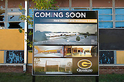 A display for the new Health and Wellness Center outside out of the Grambling State University Natatorium in Grambling, Louisiana on October 23, 2013.    (Cooper Neill for The New York Times)