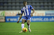 Donervon Daniels (Wigan) during the Sky Bet League 1 match between Wigan Athletic and Gillingham at the DW Stadium, Wigan, England on 7 January 2016. Photo by Mark P Doherty.