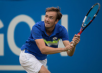 Tennis - 2017 Aegon Championships [Queen's Club Championship] - Day Four, Thursday <br /> <br /> Men's Singles: Round of 16 - Daniil MEDVEDEV (RUS) Vs Thanasi KOKKINAKIS (AUS)<br /> <br /> Danil Medvedev (RUS) at Queens Club<br /> <br /> COLORSPORT/DANIEL BEARHAM