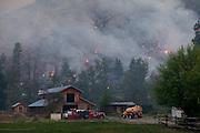 Fires burn near a ranch in Twisp. Thursday, Aug. 20, 2015.<br /> <br /> Erika Schultz / The Seattle Times