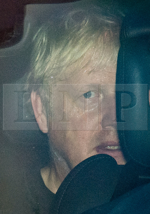 © Licensed to London News Pictures. 09/09/2020. London, UK. British Prime Minster BORIS JOHNSON appears sweaty as he is driven from Lambeth Palace after his morning exercise,  as a new round of negotiations between the UK Government and the EU take place. British Prime Minister Boris Johnson has threatened to overwrite parts of the EU withdrawal agreement signed with Brussels last October. Photo credit: Ben Cawthra/LNP