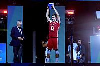 Celebration Poland World Champion <br /> Poland team celebrate world Championships victory <br /> Michal Kubiak Poland <br /> Torino 30-09-2018 Pala Alpitour <br /> FIVB Volleyball Men's World Championship <br /> Pallavolo Campionati del Mondo Uomini <br /> Final - Finae <br /> Brazil - Poland / Brasile - Polonia <br /> Foto Antonietta Baldassarre / Insidefoto