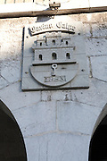 Casino Calpe sign building built in 1853 Gibraltar, British terroritory in southern Europe
