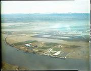 """Port of Portland. Aerials at Rivergate. April 7, 1969""  (Black & white 15877)"