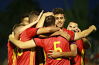 Spain's players celebrate goal during international sub 21 friendly match. September 1,2017.(ALTERPHOTOS/Acero)