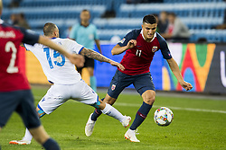 September 6, 2018 - Oslo, NORWAY - 180906 Fotis Papoulis of Cyprus and Mohamed Elyounoussi of Norway during the Nations League match between Norway and Cyprus on September 6, 2018 in Oslo..Photo: Vegard Wivestad Grøtt / BILDBYRÃ…N / kod VG / 170219 (Credit Image: © Vegard Wivestad GrØTt/Bildbyran via ZUMA Press)
