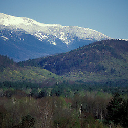 Mt. Washington covered in spring snow as seen from North Conway.  North Conway, NH