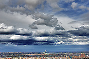 Cloudy and Stormy afternoon on the city of Montreal, Quebec, Canada