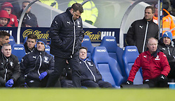 Rangers manager Greame Murty looks dejected during the Ladbrokes Scottish Premiership match at Ibrox Stadium, Glasgow.