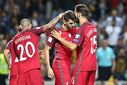 August 31, 2017 - Porto, Portugal - Portugal's forward Nelson Oliveira celebrates with teammates after scoring during the 2018 FIFA World Cup qualifying football match between Portugal and Faroe Islands at the Bessa XXI stadium in Porto, Portugal on August 31, 2017. (Credit Image: © Pedro Fiuza/NurPhoto via ZUMA Press)