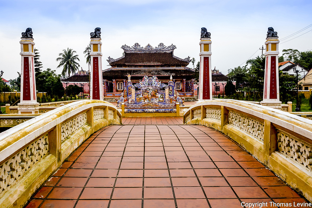The entrance to Confucius Temple, Miếu Thờ Khổng Tử, Ho An. 2018. <br /> <br /> I have updated photographs of Confucius Temple in 2020, but they will be added sometime in the future unless requested. The area has degraded since 2018 and CoronaVirus may have had something to do with it.