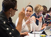 School leaders attend a session on Rigor during the Summer Leadership Institute at Reliant Center, June 20, 2013.