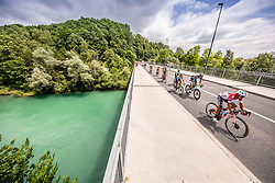 Peloton during the 5th Stage of 27th Tour of Slovenia 2021 cycling race between Ljubljana and Novo mesto (175,3 km), on June 13, 2021 in Ljubljana - Novo mesto, Ljubljana - Novo mesto, Slovenia. Photo by Vid Ponikvar / Sportida