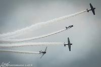 Atlantic City, NJ. GEICO Skytypers Airshow Team. SNJ-2 aircraft, the Navyís version of a WWll Texan T-6. Photograph by Alan Brian Nilsen ©Alan Brian Nilsen