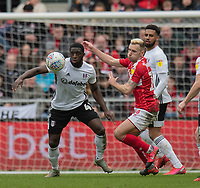 Fulham's Terence Kongolo (left) vies for possession with Bristol City's Andreas Weimann (right) <br /> <br /> Photographer David Horton/CameraSport<br /> <br /> The EFL Sky Bet Championship - Bristol City v Fulham - Saturday 7th March 2020 - Ashton Gate Stadium - Bristol<br /> <br /> World Copyright © 2020 CameraSport. All rights reserved. 43 Linden Ave. Countesthorpe. Leicester. England. LE8 5PG - Tel: +44 (0) 116 277 4147 - admin@camerasport.com - www.camerasport.com