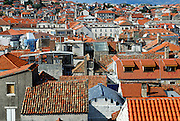 Elevated view of rooftops, Diocletian Palace, Split, Croatia
