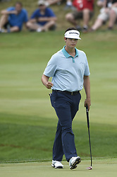 June 24, 2018 - Cromwell, CT, USA - Beau Hossler pumps his fist after making a birdie putt on the 17th hole during the final round of the Travelers Championship at TPC River Highlands in Cromwell, Conn., on Sunday, June 24, 2018. (Credit Image: © John Woike/TNS via ZUMA Wire)