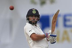 July 29, 2017 - Galle, Sri Lanka - Indian cricket captain Virat Kohli plays a shot during the 4th Day's play in the 1st Test match between Sri Lanka and India at the Galle cricket stadium, Galle, Sri Lanka on Saturday 29 July 2017. (Credit Image: © Tharaka Basnayaka/NurPhoto via ZUMA Press)
