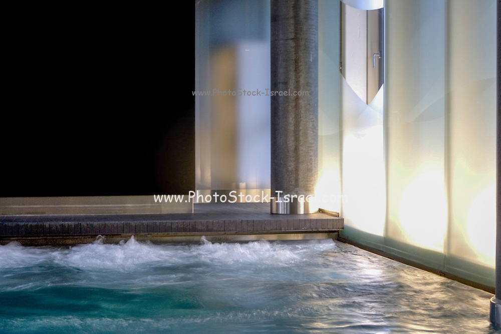 Indoor SPA, Whirlpool hot tub and swimming pool close up