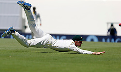 Australia's Cameron Bancroft attempts to take a catch during day two of the Ashes Test match at Sydney Cricket Ground.