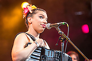 """Magda Giannikou playing songs from Banda Magda's new album """"Amour, T'es La?"""""""