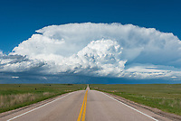 From a distance this South Dakota supercell looked very impressive with a crisp updraft under a clear blue sky.
