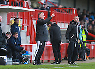 Crawley Town Manager Mark Yates issues instructions from the touchline during the Sky Bet League 2 match between Crawley Town and Bristol Rovers at the Checkatrade.com Stadium, Crawley, England on 21 November 2015. Photo by Bennett Dean.