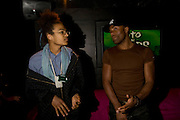 CHIGOZIE NRI AND RAY FEARON, INTO THE HOODS - a hip hop dance musical -opening  at the Novello Theatre on The Aldwych. After- party at TAMARAI at 167 Drury Lane, London. 27 March 2008.   *** Local Caption *** -DO NOT ARCHIVE-© Copyright Photograph by Dafydd Jones. 248 Clapham Rd. London SW9 0PZ. Tel 0207 820 0771. www.dafjones.com.
