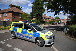 © Licensed to London News Pictures. 21/07/2020. London, UK. The scene in Elfwine Road in west London after a man was found dead yesterday. Police were called shortly after 18:00hrs on Monday, 20 July to reports of a disturbance outside a residential address on Elfwine Road, W7. Police found a man with a serious head injury. The London Ambulance Service attended and the man was pronounced dead at the scene. Photo credit: Ben Cawthra/LNP